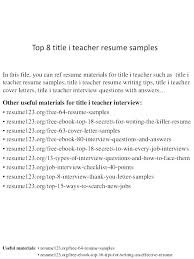 Resume Title Examples Titles For Resumes Best Resume Title Examples For Freshers Good