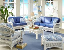 white wicker furniture. Brilliant Wicker White Rattan And Wicker Living Room Furniture Sets  Chairs  Tables Intended C