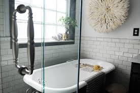 Bathroom:Marvelous Freestanding Tub With Shower Idea Of Classic Bathroom  With Wall Decor And Claw