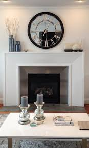 thinking of creating this urban barn clock but not with mirror silver paint for modern fireplace mantleswhite fireplace