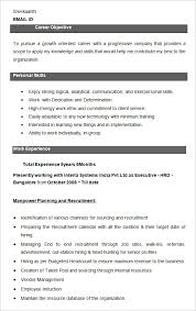 Hr Resume Templates Cool 48 HR Resume Templates DOC Free Premium Templates