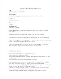 Sales Executive Resume For Strategic Enterprise Software