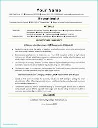 Reception Resume Medical Office Receptionist Resume Cover Letter Elegant