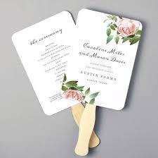 Printable Fan Program Fan Program Template Wedding Fan Template Diy Wedding Program Fan