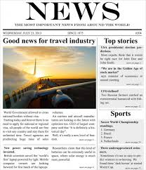 Newspaper First Page Template Newspaper Template 16 Free Word Pdf Documents Download Free