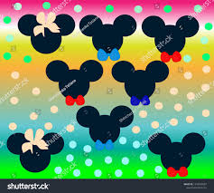 Handdrawn Background Mickey Mouse Girl Boy Stock Vector (Royalty Free)  1310842097