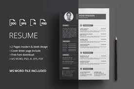 Modern Resume Template Job Cvord Design Microsoft Indonesia