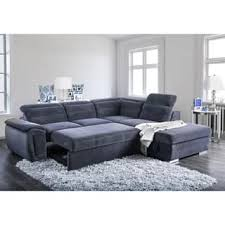 convertible sectional sofa bed. Beautiful Bed Furniture Of America Alina Contemporary 2piece Chenille Convertible  Sleeper Sectional With Ottoman For Sofa Bed I