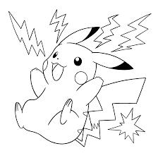 A Colorier Pikachu Le Petit Pokemon Eclair De Sacha L L L L L L L L