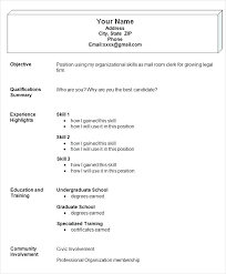 Resume Format Application Sample Resume Format For Job Application In The Philippines Simple