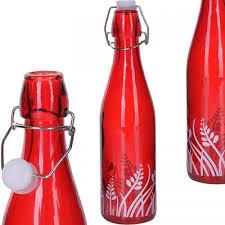 <b>Бутылка для напитков LORAINE</b>, 0,5 л, с узором, красный ...