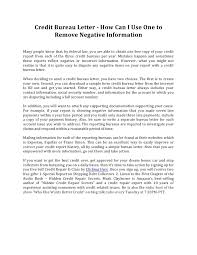 credit bureau letter how can i use one to remove negative information 1 728 cb=