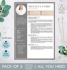 Modern Resume Template Windows Modern Resume Template In Blush And Gray With Picture For Windows And Mac