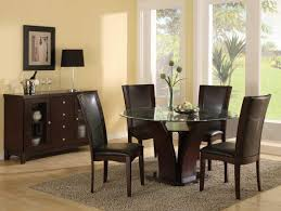 Round Glass Tables For Kitchen Cool Round Glass Kitchen Table Sets With Small Cabinet And Windows