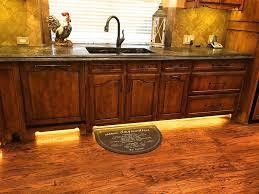 Image Cayuga Dr Sink Base With Lighted Toe Kick Wood Gem Custom Cabinets Kitchens Wood Gem Custom Cabinets