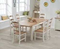 cream compact extending dining table: somerset cm oak and cream extending dining table with chairs