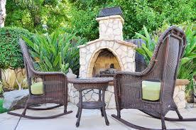 29869024 fireplace in backyard