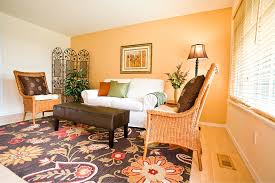 ... Incredible Accent Wall Colors For Your Interior Design Ideas :  Magnificent Living Room With Orange Accent ...