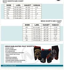Rudis Wrestling Size Chart Gear And Equipment