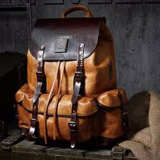 luxury mens 100 cow leather backpack