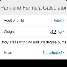 Parkland Formula Calculator Rule Of Nines Omni