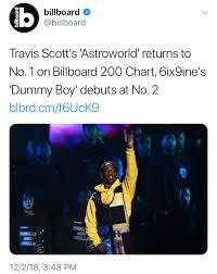 24 Scientific 6ix9ine Billboard Chart History