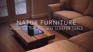 elegant oak sleeper coffee table with natur furniture home of the chunky oak railway sleeper table