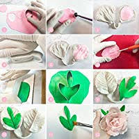 12pcs Gumpaste <b>Flower</b> Silicone Mold - Gum Paste Peony <b>Flower</b> ...