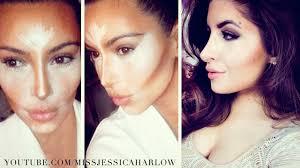 contour highlight kim kardashian makeup jessicaharlow
