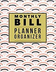 Monthly Bill Planner Organizer Japanese Design Budgeting