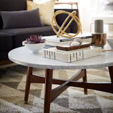 reeve mid century coffee table marble west elm within round top remodel 17