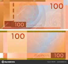 Voucher Template Banknote 100 Guilloche Pattern Watermarks