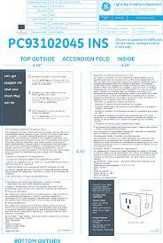 Ge Smart Switch No Blue Light Cplgstdblw1 Smart Plug User Manual 93102045_pk 00100690