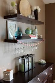 25 Best Wine Glass Shelf Ideas On Pinterest Regarding Floating Glass Shelves  For Bar (#