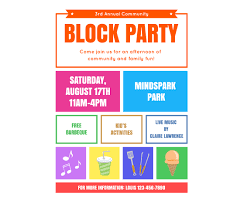 Block Party Flyers Templates Download This Block Party Flyer Template And Other Free
