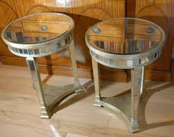 side tables pair round top art deco
