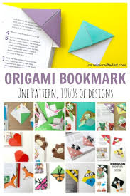 Bookmark Designs To Print How To Make An Origami Bookmark Corner Red Ted Art