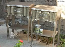 diy metallic furniture. modern masters nickle u0026 champagne metallic paint on french nightstands by vintage charm restored diy furniture t