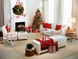 Small Picture Red and White Christmas Home Decoration Ideas Christmas Home Red