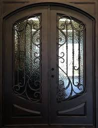 wrought iron glass doors x square exterior wrought iron vs stained glass door inserts