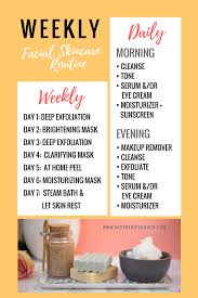 Skincare Revamp Daily Weekly Routine Diy Face Scrub