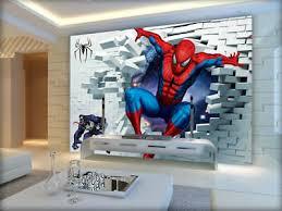great cool spiderman 3d full wall mural