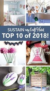 collage of six of the top projects on sustain my craft habit blog in 2018