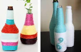 DIY Yarn Wrapped Bottles