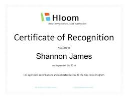 Certificate Of Recognition Template Free Download Template For Certificate Of Recognition Certificate Of Recognition
