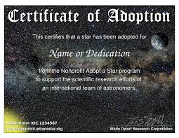 certificate and