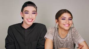 watch zendaya and james charles take on their first makeup challenge for cover