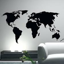 wall decal for office. Wall Stickers Decals Office Decor World Map Decal With Regard To Newest For