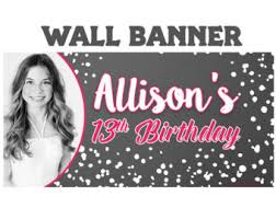 happy birthday banners personalized happy birthday candy land photo banner personalized rainbow etsy