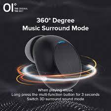 Tai nghe bluetooth 5.0 không dây OI Air-Pro FIFTH hỗ trợ thay đổi giọng nói  với âm thanh vòm 3D tiện dụng cho chơi game - Tai nghe Bluetooth nhét Tai